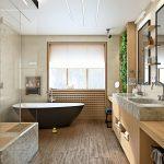дизайн душевой комнаты в светлых тонах фото