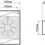 овальный вытяжной вентилятор у ванную комнату примеры