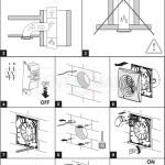 квадратный вентилятор вытяжки для ванной комнаты конструкции