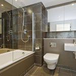 плитка серого цвета в дизайне ванной