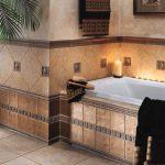 красивая керамическая плитка в ванной в стиле модерн в светлых тонах