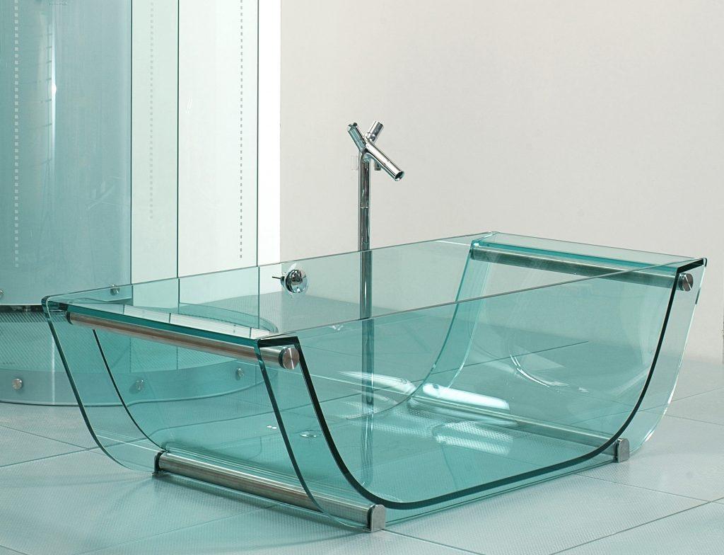 стеклянная ванная набирает популярность