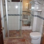 маленькая душевая кабинка в ванной комнате интерьер