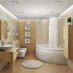 светлая маленькая ванная