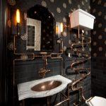 готическое оформление дизайна ванной