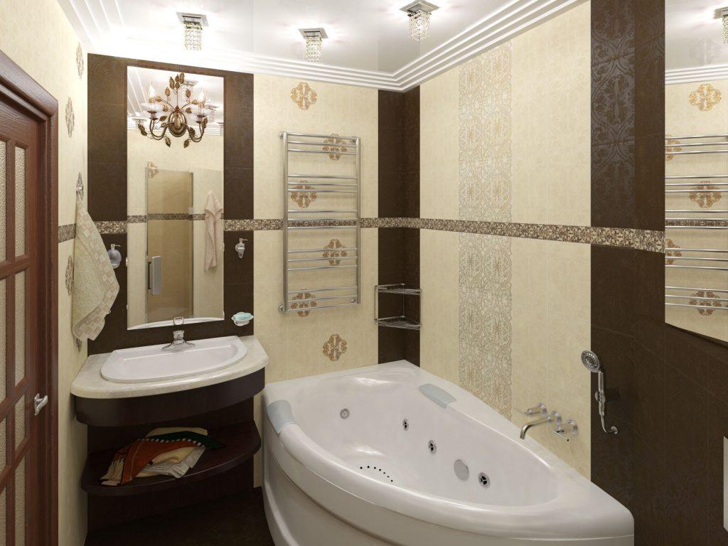 необычная плитка в ванной с рисунками