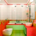ванная комната в светло красных тонах