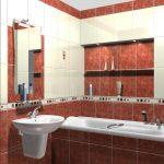 использование зеркала в ванной комнате