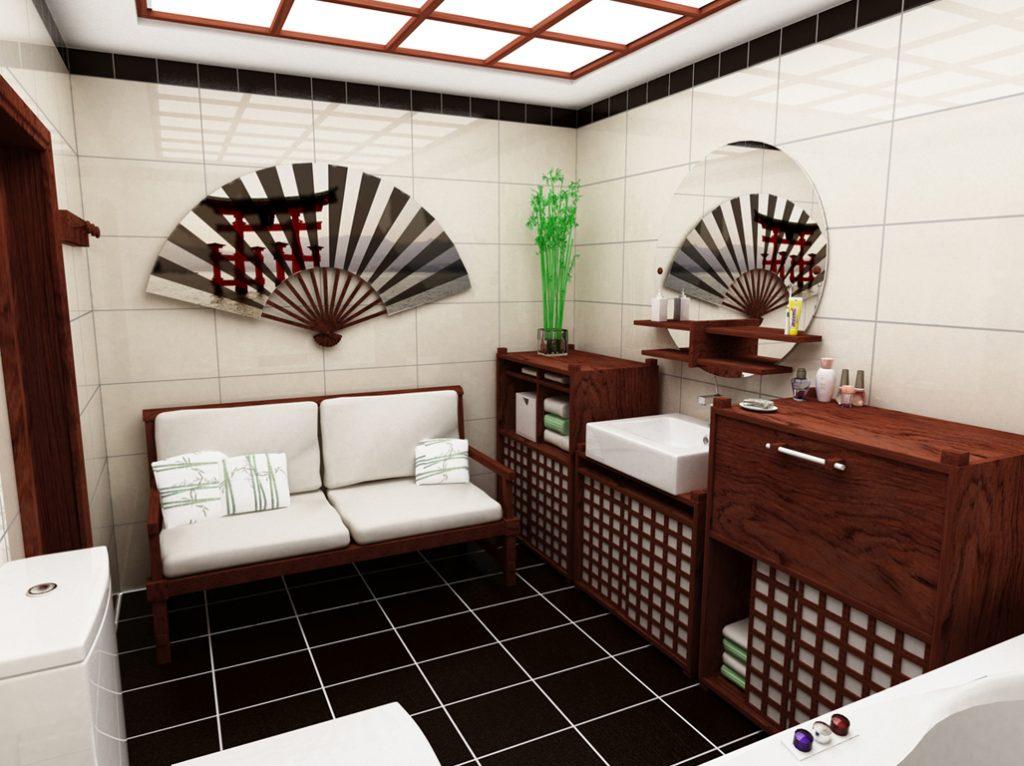 японский стиль ванной 6 кв метров