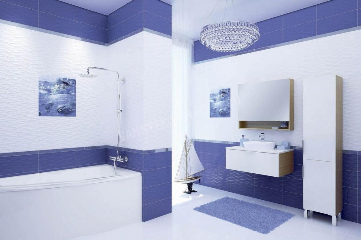 яркая керамическая плитка в ванной комнате в стиле этно в теплых тонах