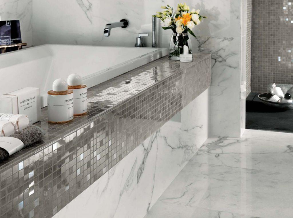 зеркальная плитка для ванной комнаты, зеркальная плитка