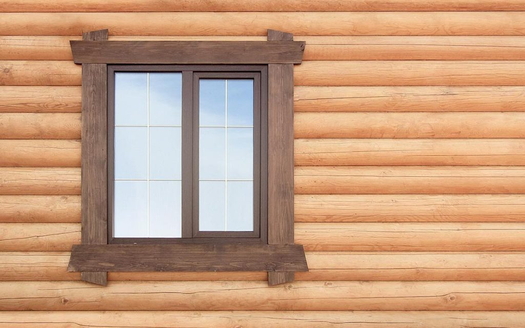 Деревянные окна для бани