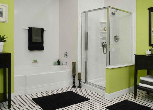 Душевая кабина меняет стиль ванной комнаты