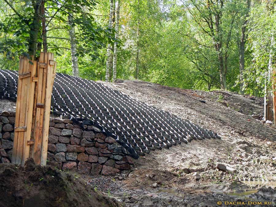 Способы укрепления склонов